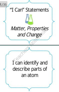 FREE I Can Statements- Matter, Properties and Changes from Simply Scientific on TeachersNotebook.com (35 pages)