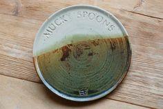 Hand-thrown Ceramic Mucky Spoons Tray. $13.00, via Etsy.