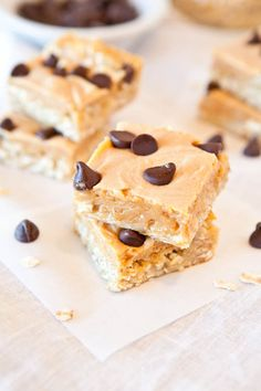 Marshmallow Peanut-Butter Double-Chocolate Pillowtop Bars