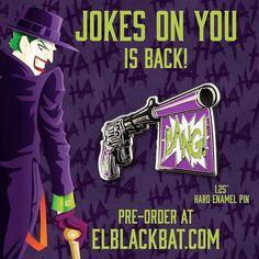 #Repost @elblackbat  New and improved Joker product!Jokes on You is back by popular demand and in a new color. Preorder it for $10 from my store elblackbat.com  #pin #pins #enamelpin #enamelpins #hatpin #hatpins #lapelpin #lapelpins #pingame #pingamestrong #pinstagram #pinsofig #pinbadge #pincommunity #pincollector #pintrader #villain #elblackbat #joker #batman #dccomics #gotham #jokergun    (Posted by https://bbllowwnn.com/) Tap the photo for purchase info.  Follow @bbllowwnn on Instagram…