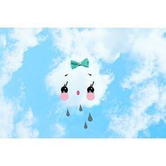 kawaii cloud print aceo size DRIBBLE by boopsiedaisy on Etsy, $4.00