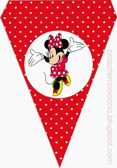Minnie in Red Free Printable Bunting.