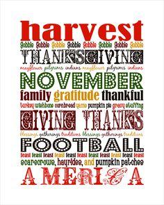 Fall / Thanksgiving Printable