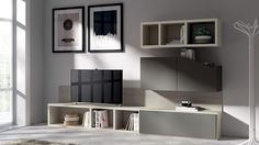 Modern minimal becomes the prominent style of the living room shelves - Decoist