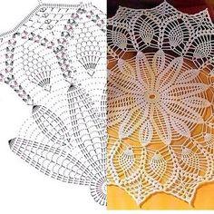 Kira scheme crochet: Scheme crochet no. Crochet Doily Diagram, Crochet Motif Patterns, Crochet Mandala, Crochet Art, Thread Crochet, Love Crochet, Filet Crochet, Beautiful Crochet, Crochet Flowers
