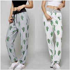 Funky Cactus Joggers Satin Pyjama Set, Pajama Set, Womens Fashion Online, Latest Fashion For Women, Pajamas For Teens, Tartan Pants, Cozy Pajamas, Country Girls Outfits, Womens Pyjama Sets
