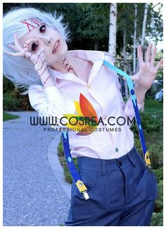 Costume Detail Tokyo Ghoul Juzo Suzuya Costume Set Includes - Top, Strap Set, Pants We may have selected store sizes for this costume, ready for fast ship. Please check with us on availability and app