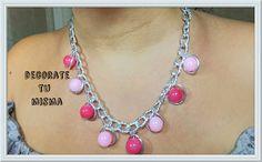 .Decorate tu misma.: Collar muy sencillo de abalorios y alambre mágico....