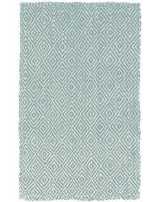 DwellStudio Diamond Jute Slate Blue Rug
