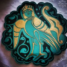 ...kıymetli hocam @fundakocer_gsf hediyesi...emeğinize sağlık hocam...#kubadabad #sarayı #çinileri #sfenks #anadolu #selçuklu #motifleri #gold #tile by eliftktu