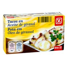 DIA tacos en aceite de girasol lata 72 g