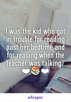 The two times reading made you feel like a rebel.