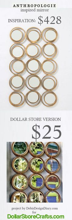 Amazing Anthro knock-off - Dollar Store Crafts