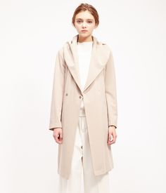 ROPÉ PICNIC(ロペピクニック) ツイルフーデッドガウンコート Gown coat  GRAY  #J'aDoRe JUN ONLINE #J'aDoRe Magazine