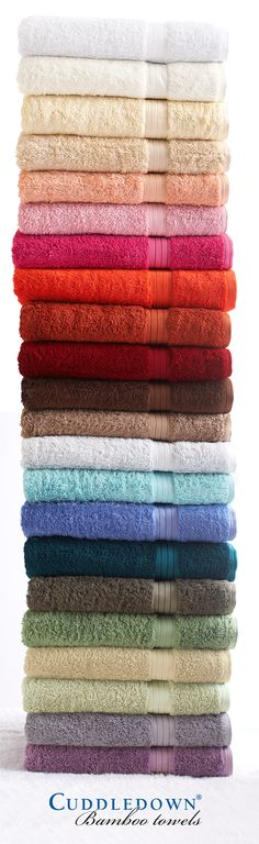 Cuddledown customers love our Bamboo Towels so much, you have to pry them from their cold, wet fingers!