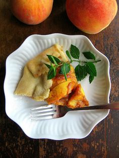Peach Tart With Dulce de Leche