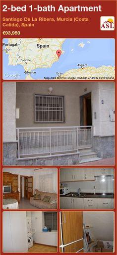 2-bed 1-bath Apartment in Santiago De La Ribera, Murcia (Costa Calida), Spain ►€93,950 #PropertyForSaleInSpain