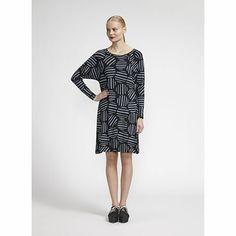Fun and flirty, stripes and spots. Marimekko Karakali Black/Grey Dress - $169