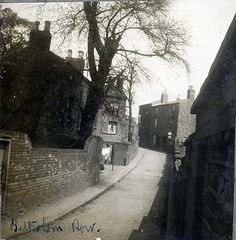 Belholom Row 1830-1890 A passage way bordering the Jewish Cemetery Islington Row Birmingham England.