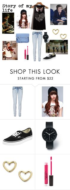"""""""Story of my life <3"""" by directioner-708 ❤ liked on Polyvore featuring Vero Moda, Under Armour, Vans, Uniform Wares, Marc by Marc Jacobs, Stila and The Cambridge Satchel Company"""
