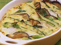 Auberginen-Zucchini-Gratin mit Kabeljau