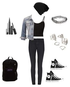 """Grayson Dolan's Girlfriend School Outfit"" by madmaddie28 ❤ liked on Polyvore featuring JanSport, Converse, maurices, ASOS and Forever 21"