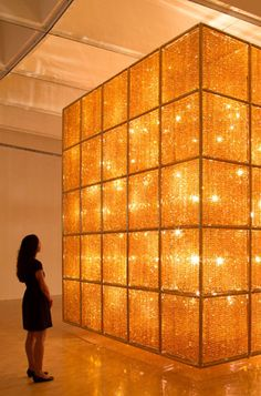Ai Weiwei: Cube Light, Current Exhibition at the Hirshhorn in Washington DC. This photo shows the full scale of this work.