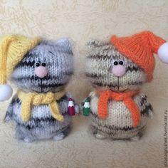 Купить Малыши- Карандаши. - разноцветный, коты, коты и кошки, вязаная игрушка, вязаные коты