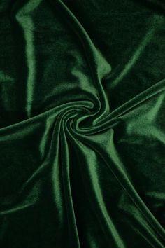 Green Stretch Velvet Fabric