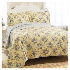 Found it at Wayfair - Laura Ashley Linley Quilt Set in Yellow