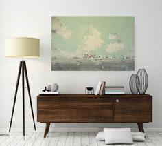 large abstract landscape painting original acrylic by SWhalenArt