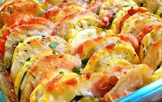 Summer Vegetable Tian - A very yummy way to eat your summer vegetables! Side Dish Recipes, Vegetable Recipes, Vegetarian Recipes, Cooking Recipes, Healthy Recipes, Healthy Meals, Cooking Tips, Delicious Recipes, Gourmet Recipes