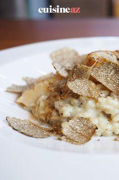 Le risotto à la truffe est un plat festif à préparer au Thermomix. #recette#cuisine#riz#risotto #truffe #robot #robotculinaire #thermomix Robot, Cooking Recipes, Fine Dining, Dish, Robots