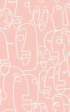 Large Dusty Pink Face Drawing Wallpaper Mural Pink wallpaper is very hot in the interior design world, and with added textures and design features they create amazing accent walls in any room of the. Iphone Background Wallpaper, Aesthetic Iphone Wallpaper, Aesthetic Wallpapers, Wall Wallpaper, Phone Wallpapers, Pink Wallpaper Room, Pinky Wallpaper, Black Wallpaper, Wallpaper Quotes