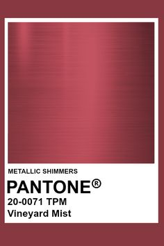 Vineyard Mist #Metallic #Pantone #Color