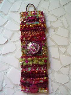 yarn embellished cuff
