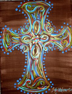 Cross Paintings On Canvas | Cross canvas painting | For when it's raining...