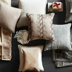 All Pillows and Covers | Williams-Sonoma Herringbone suede pillow cover