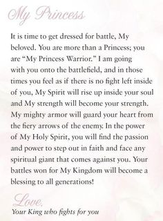 God goes with me & before me into battle & fights for me. I can not lose!