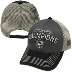 Los Angeles Kings Old Time Hockey 2014 Stanley Cup Champions Trucker Hat -  Gray 1fcceb4e19