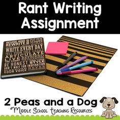 Students rant to each other daily, why not channel that creative energy into some high-quality writing? Rants are an engaging way to get students writing and sharing their thoughts and opinions in the classroom. 6th Grade Writing, Middle School Writing, Middle School Teachers, High School, Writing Workshop, Workshop Ideas, Teaching Resources, Teaching Ideas, Ontario Curriculum