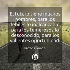 Frases  #LaCuadraU #FrasesLCU #quotes #VictorHugo #Literatura #SomosLCU