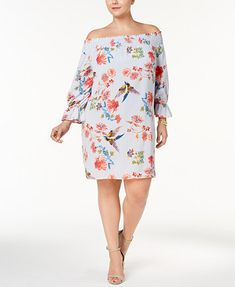 Soprano Trendy Plus Size Off-The-Shoulder Dress | macys.com