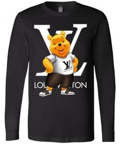 Winnie The Pooh Louis Vuitton Long Sleeve - Pooh Fans Shop Mens Sleeve, Bella Canvas, Winnie The Pooh, Digital Prints, Size Chart, Fans, Louis Vuitton, Sleeves, Cotton