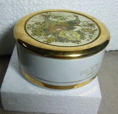 Vtge The Art of Chokin Jewelry Trinket Box Hand Engraved MetaL 24KT Gold Japan #ARTOFCHOKIN