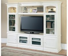 THE FURNITURE :: Cottage Style 'Hartford' Collection Entertainment Wall Unit by Parker House. FREE SHIPPING