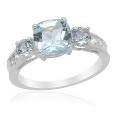 Sz 6 - Genuine Sky Blue Topaz Sterling Ring $29.95   KarmicBazaar - Jewelry on ArtFire