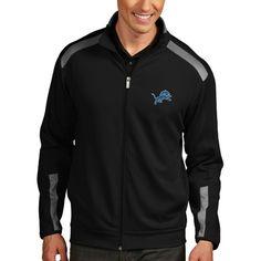 Detroit Lions Antigua Flight Full Zip Track Jacket - Black