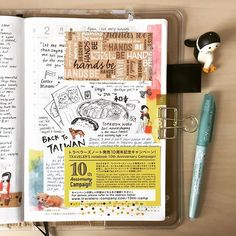 Collecting cards from stationery places is the best! #doodle #drawing #diary…