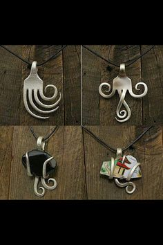 Upcycling fork Jewelry. I don't think I could make these myself, but they ARE really neat. I have a bracelet made from a fork.